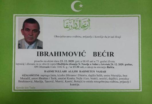 Preminuo je Bećir Ibrahimović