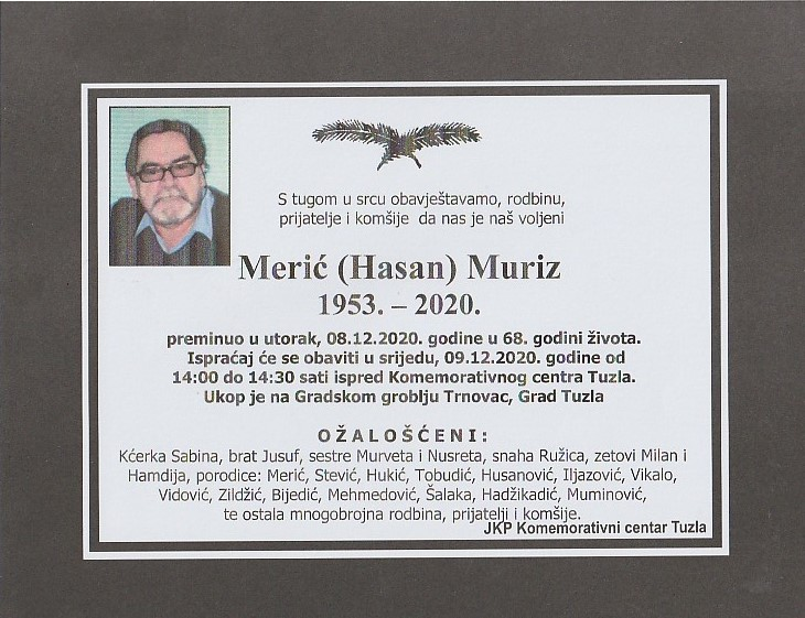 Preminuo Marić Muriz