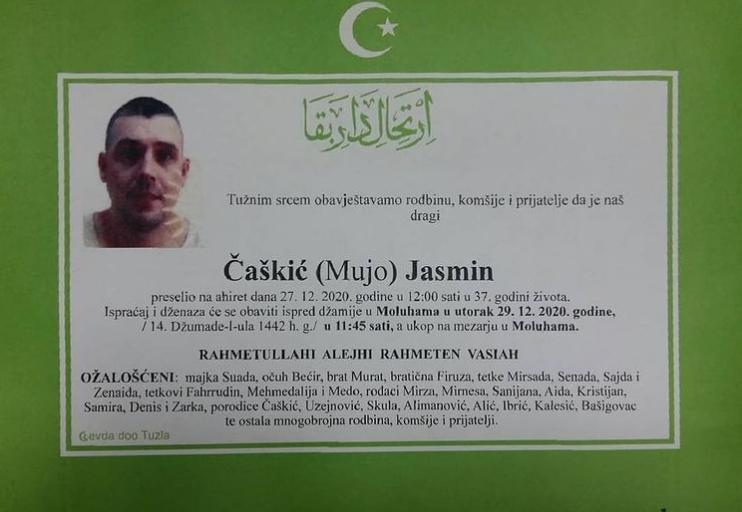 Preminuo Čaškić Jasmin