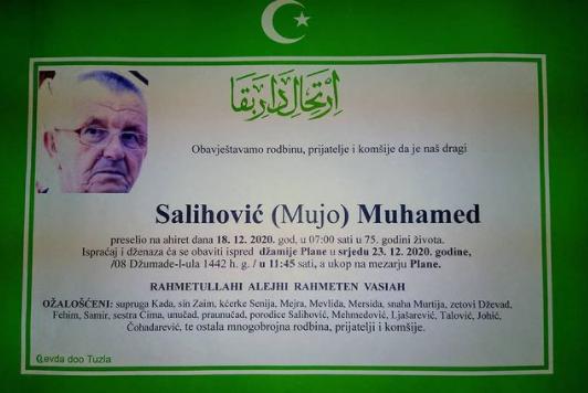 Preminuo je Muhamed Salihović