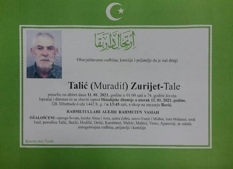 Talić Zurijet - Tale