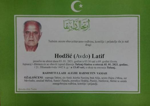 Preminuo je Latif Hodžić