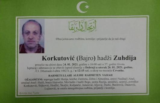 Preminuo je Zuhdija Korkutović