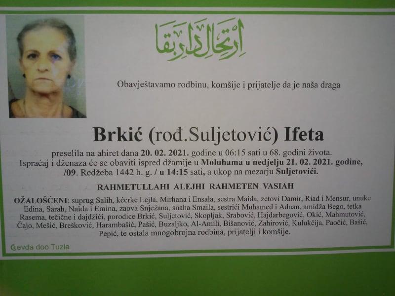 Preminula Ifeta Brkić