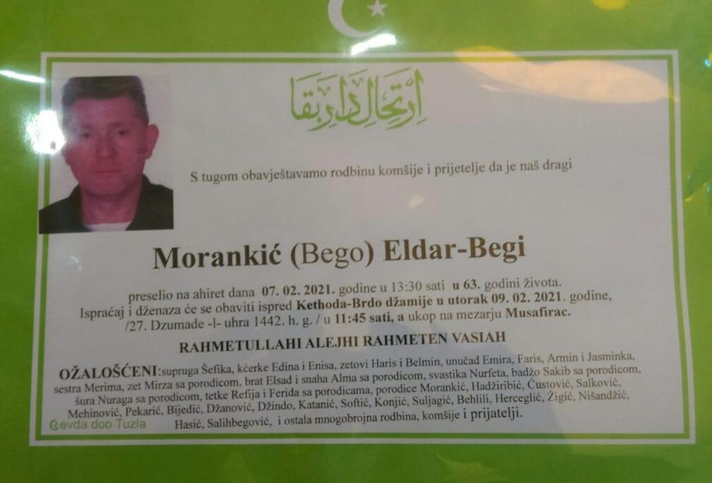 Preminuo je Eldar Morankić Begi
