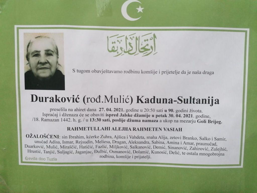 Duraković Kaduna-Sultanija