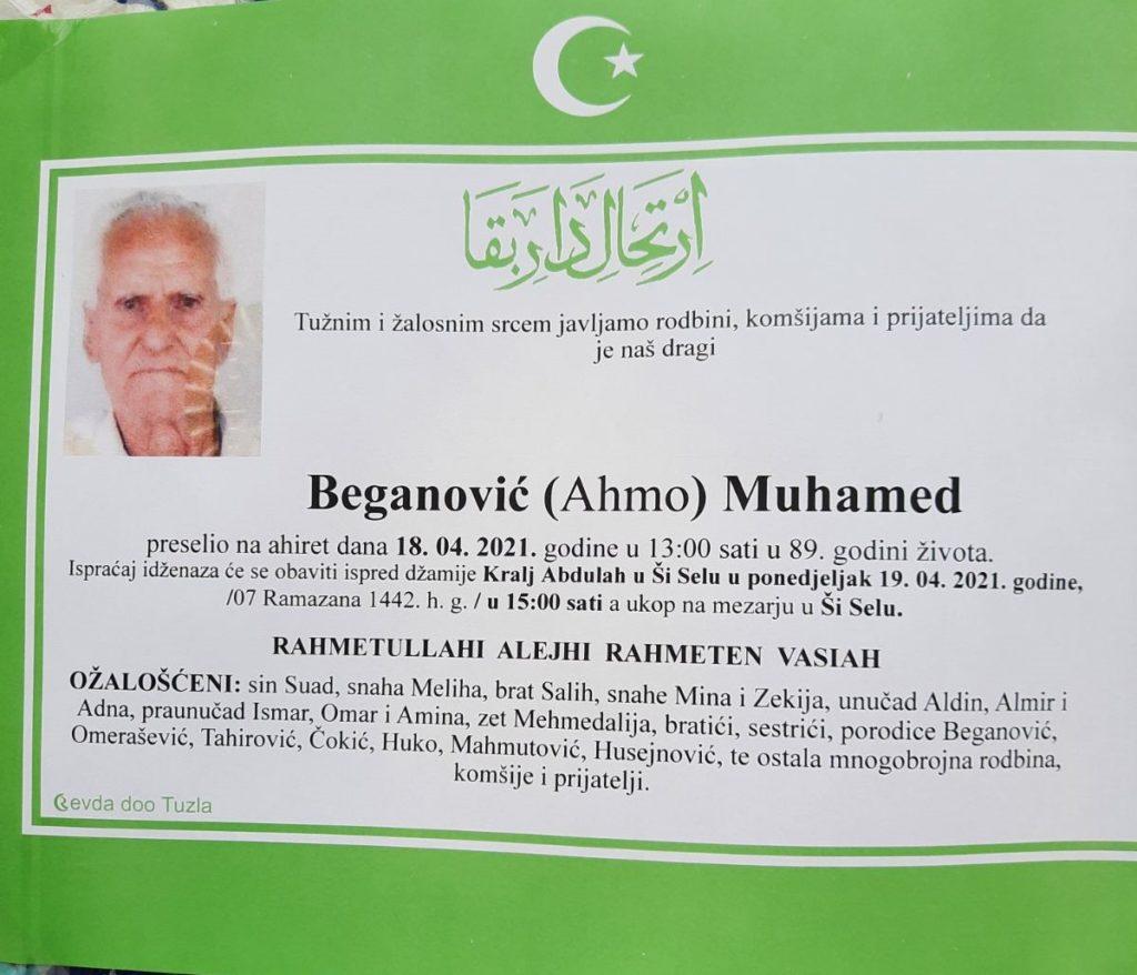 Preminuo je Beganović Muhamed