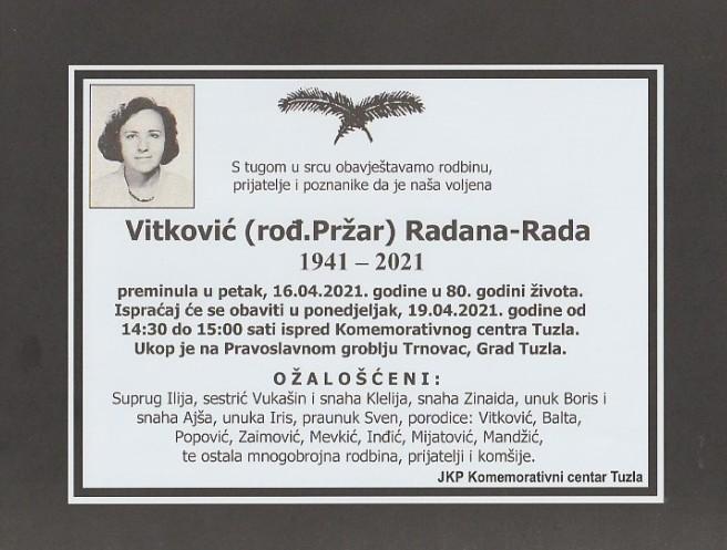 Vitković Radana - Rada