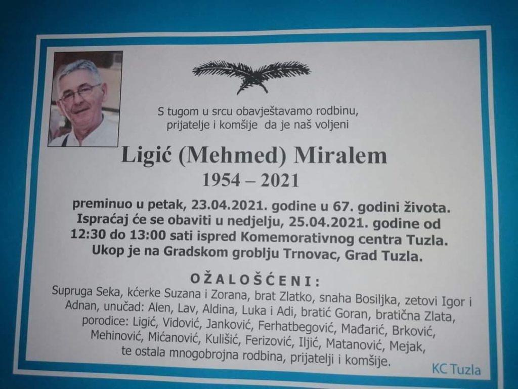 Preminuo Ligić Miralem