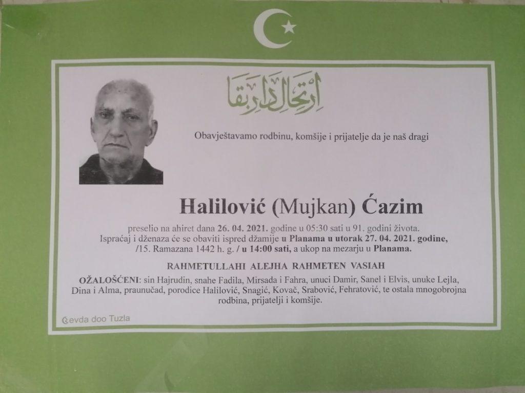 Preminuo je Ćazim Halilović