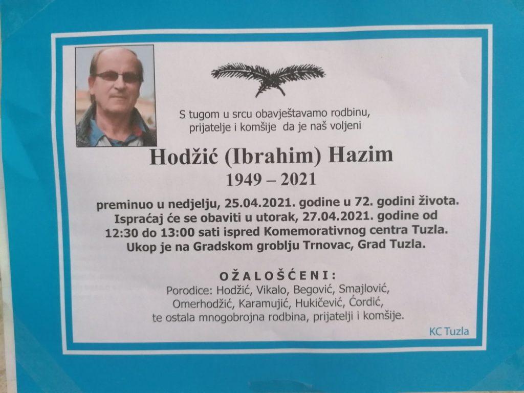 Preminuo je Hazim Hodžić