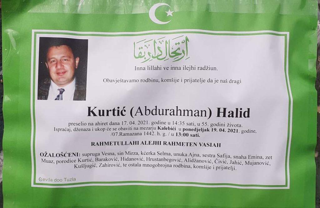 Preminuo je Halid Kurtić