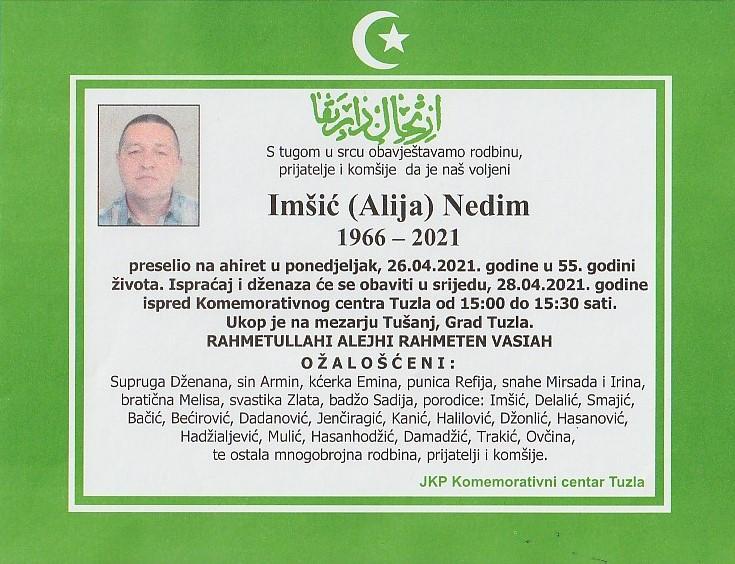 Preminuo je Nedim Imšić