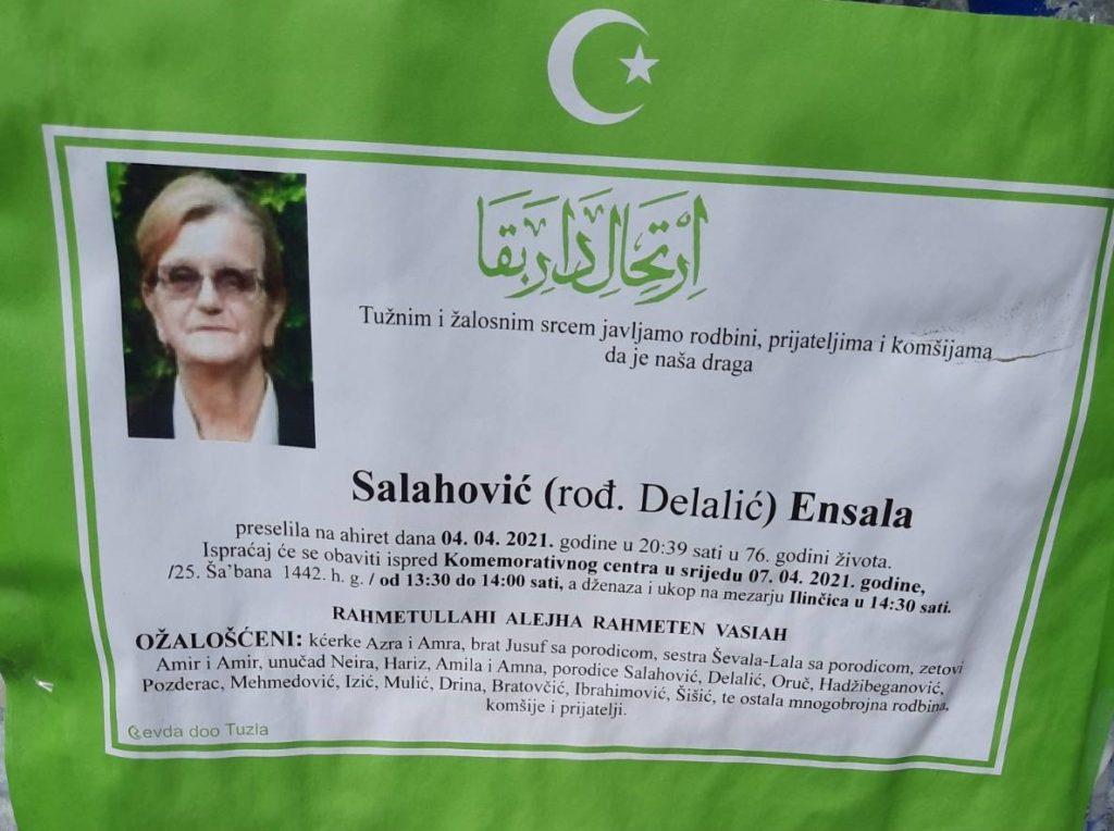 Preminula Salahović Ensala