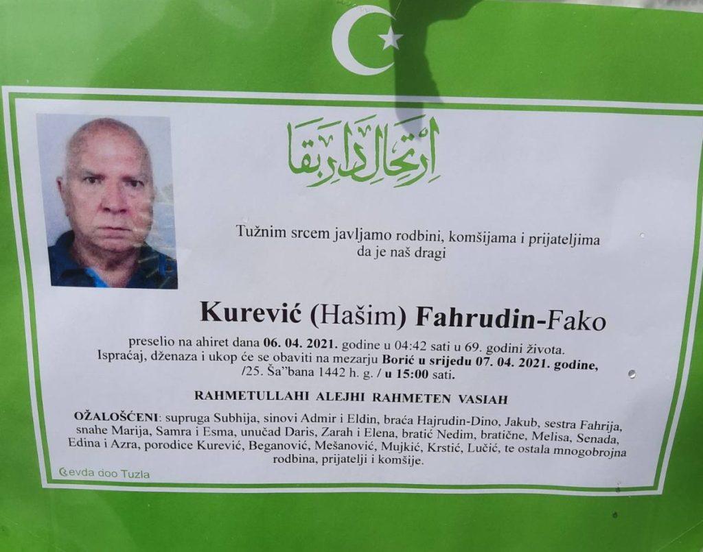 Preminuo je Kurević Fahrudin - Fako
