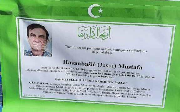 Preminuo je Hasanbašić Mustafa