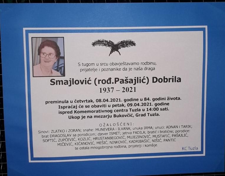 Preminula je Smajlović Dobrila