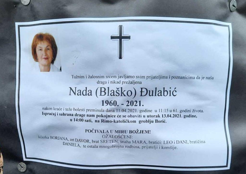 Preminula je Nada Đulabić