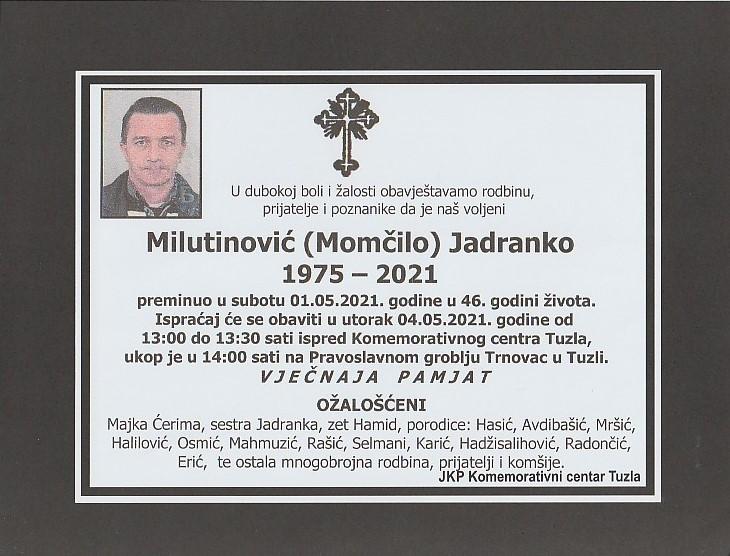 Preminuo je Jadranko Milutinović