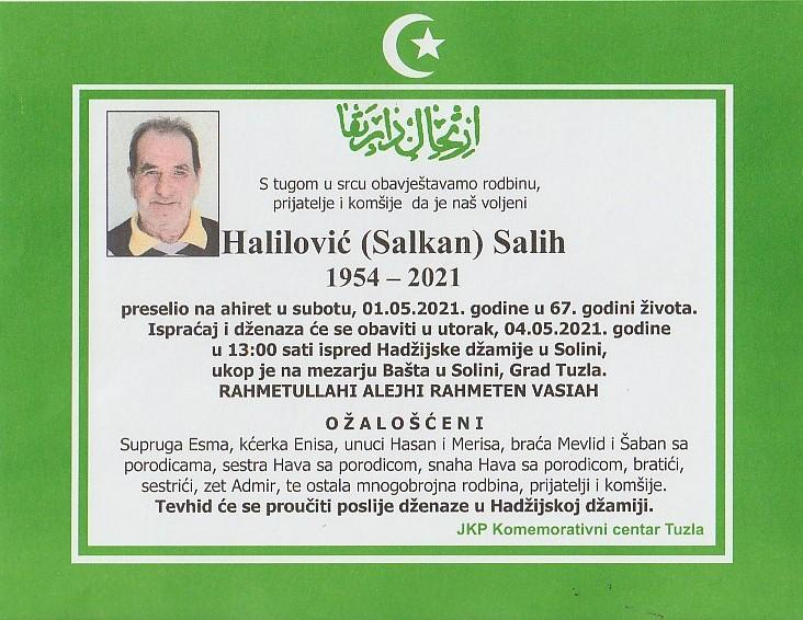 Preminuo je Salih Halilović