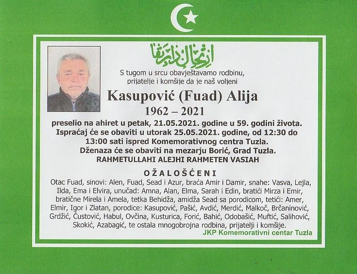 Preminuo je Alija Kasupović