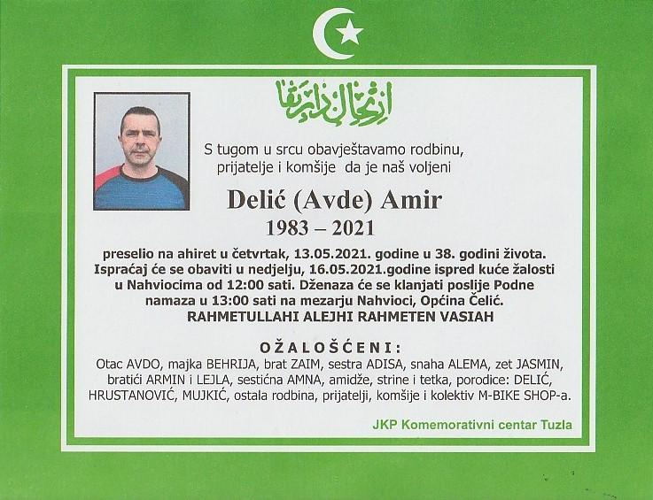 Preminuo je Amir Delić