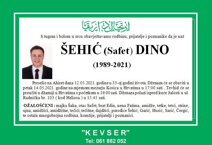 Preminuo je Dino Šehić