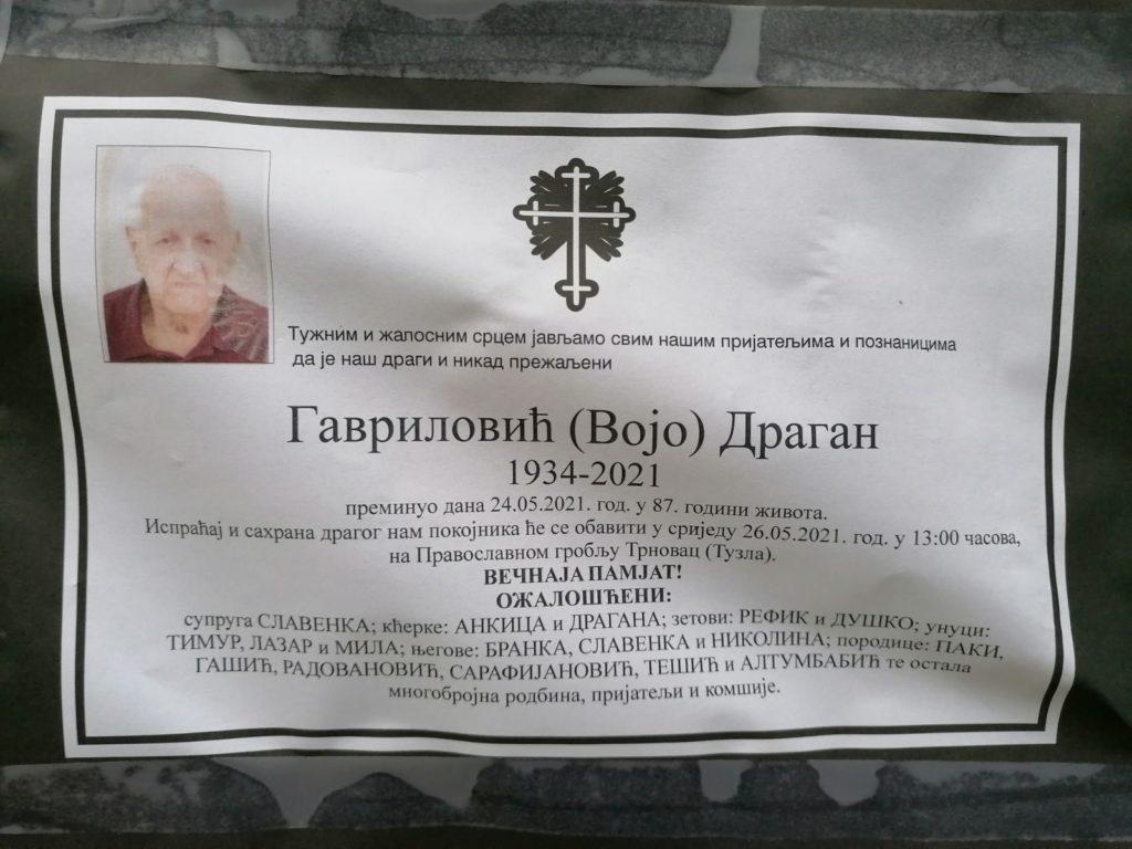 Preminuo je Dragan Gavrilović