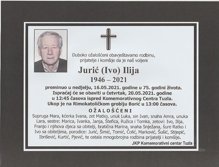 Preminuo je Ilija Jurić