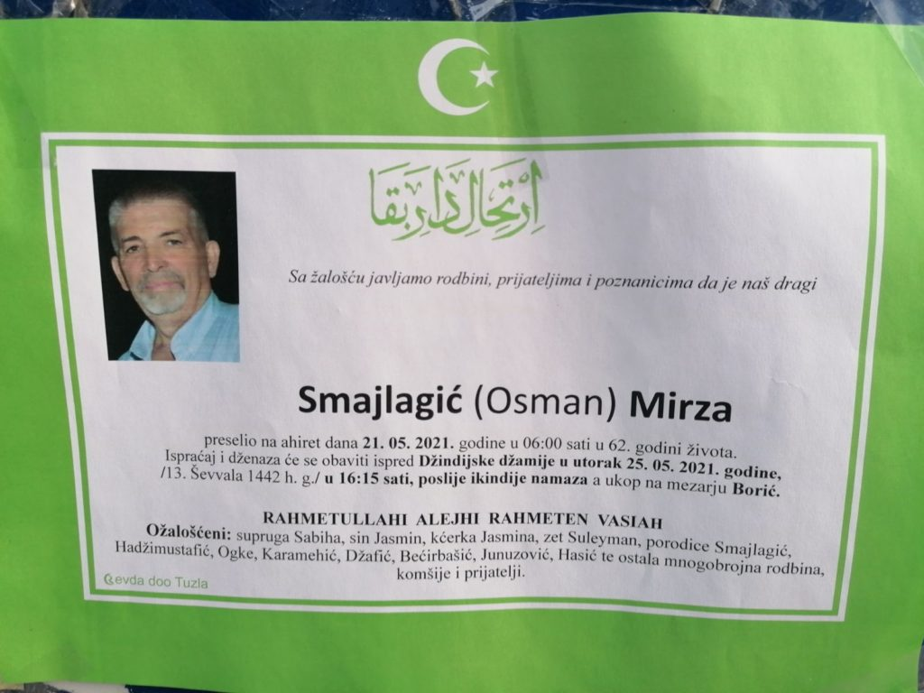 Preminuo je Mirza Smajlagić