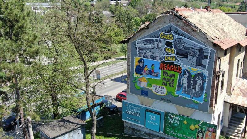 Foto: Tuzla dobila prvi mural posvećen žrtvama nasilja u porodici