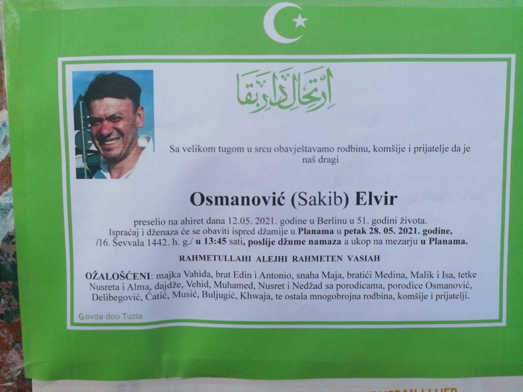 Preminuo je Elvir Osmanović