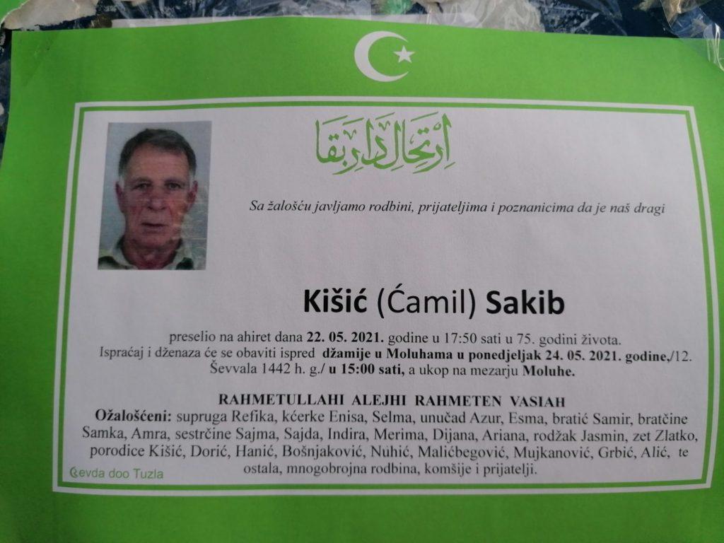 Preminuo je Sakib Kišić