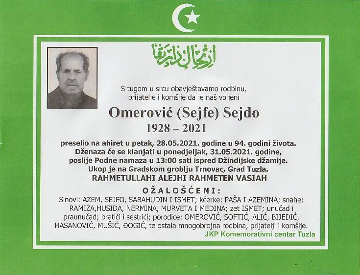 Preminuo je Sejdo Omerović