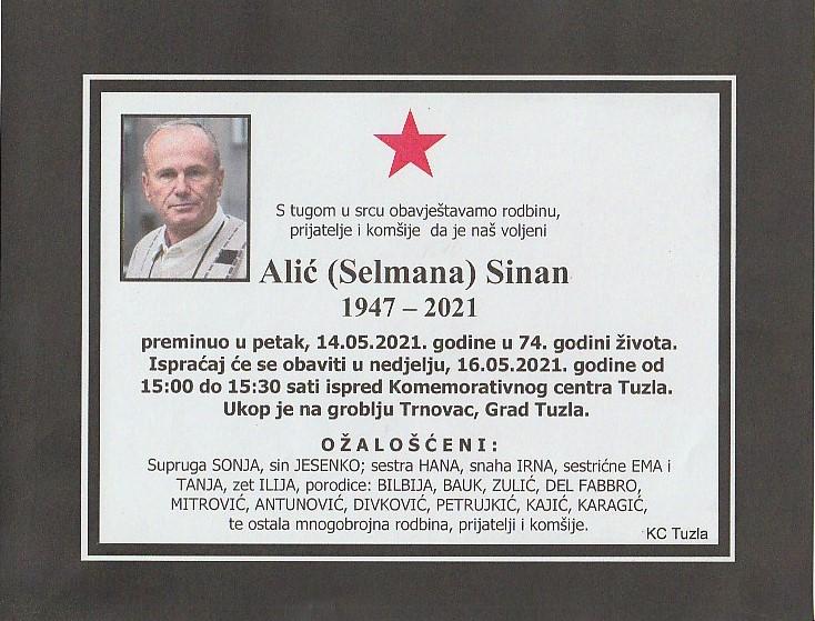 Preminuo je Sinan Alić