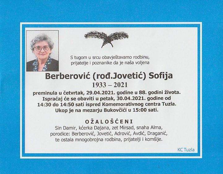 Preminula je Sofija Berberović