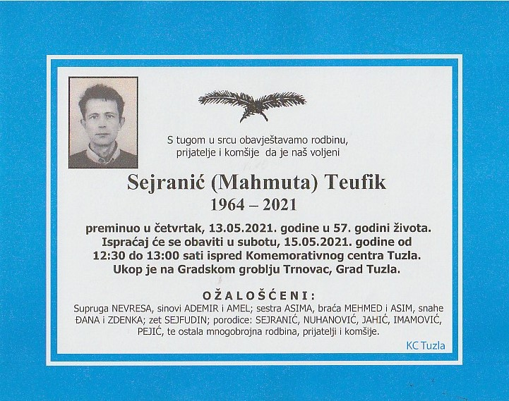 Preminuo je Teufik Sejranić