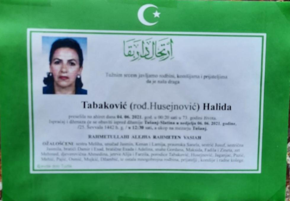 Tabaković Halida