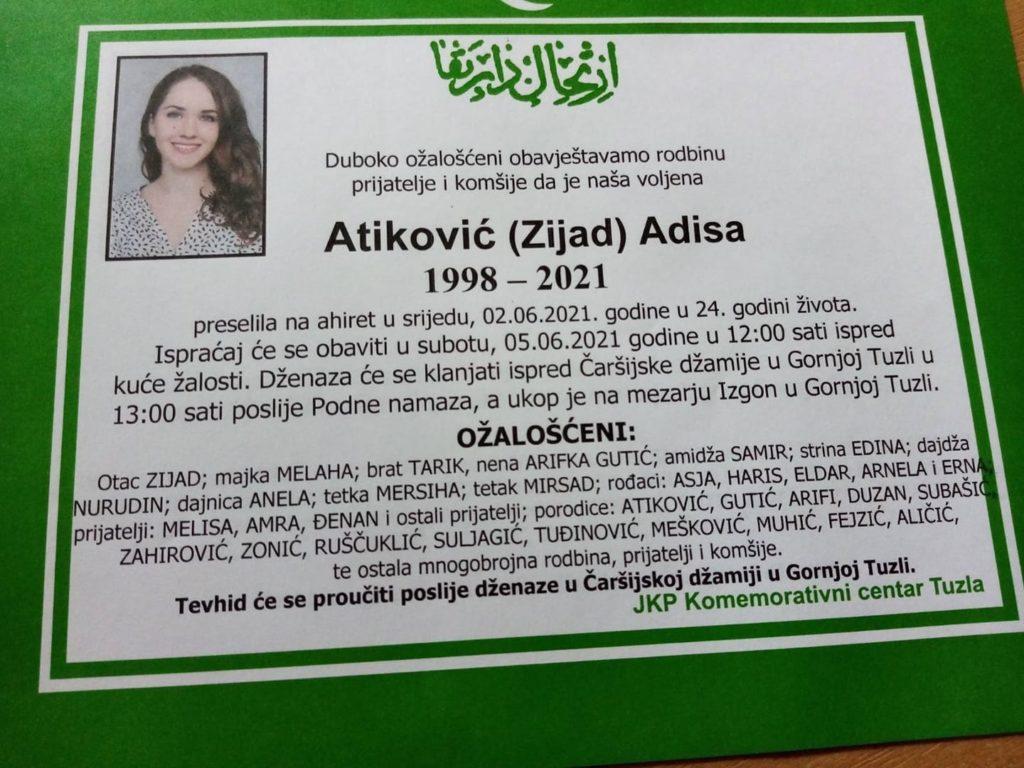 Preminula je Adisa Atiković