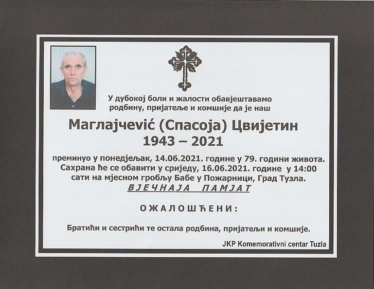 Preminuo je Cvjetin Maglajčević