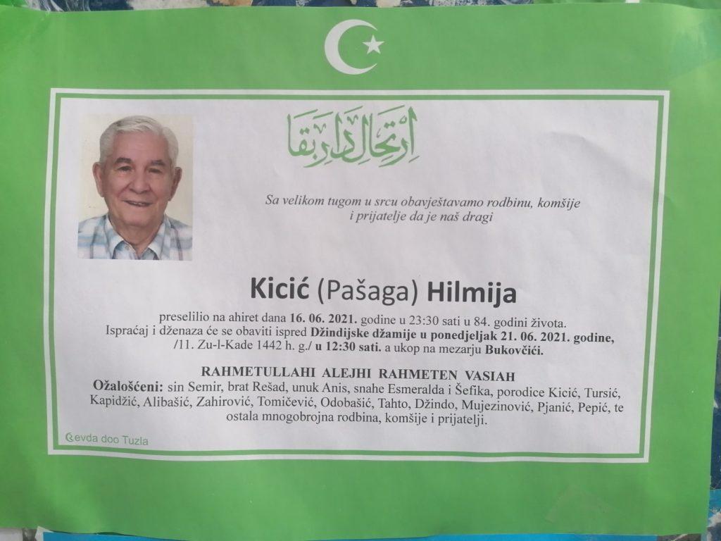 Preminuo je Hilmija Kicić