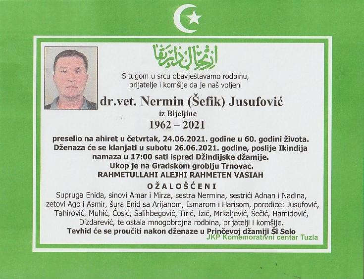 Preminuo je Nermin Jusufović