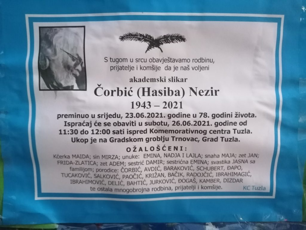 Preminuo je Nezir Čorbić