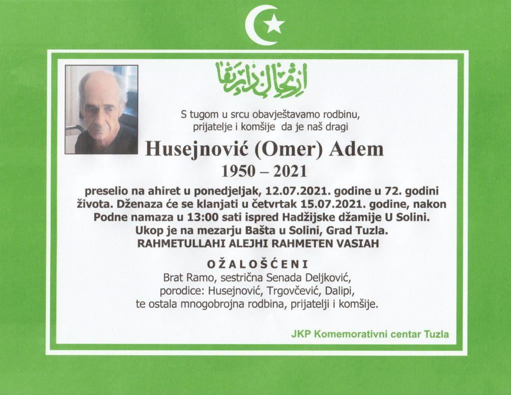 Preminuo je Adem Husejnović