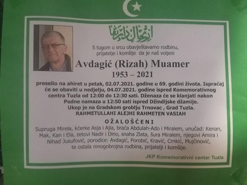 Preminuo je Muamer Avdagić
