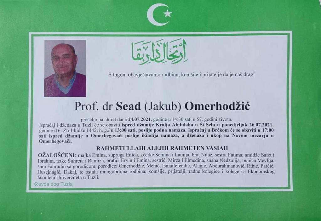 Preminuo je prof.dr. Sead Omerhodžić
