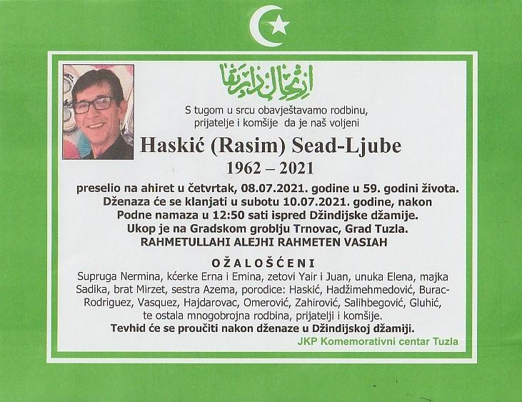 Preminuo je Sead Haskić Ljube