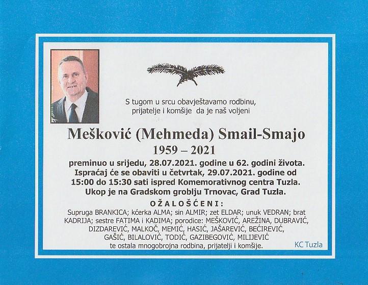 Preminuo je Smail Mešković Smajo