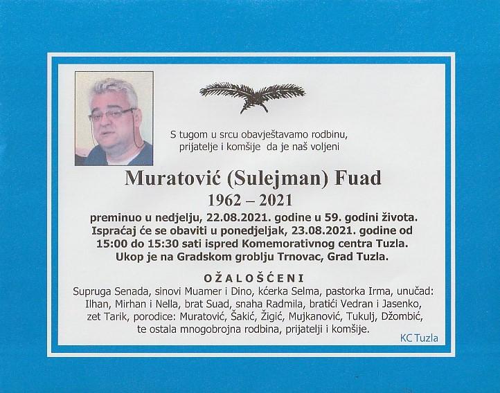 Preminuo je Fuad Muratović