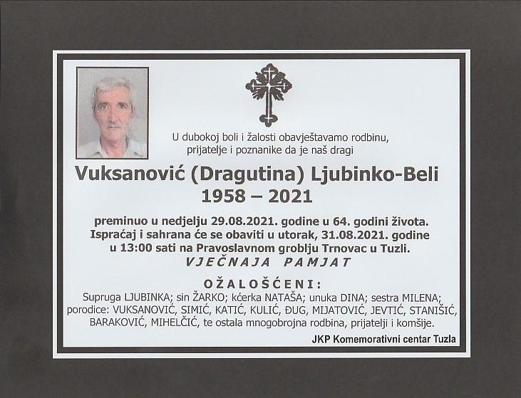 Preminuo je Ljubinsko Vuksanović Beli